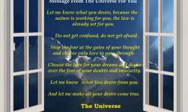 Let The Universe Knows What You Desire And Let It Come True
