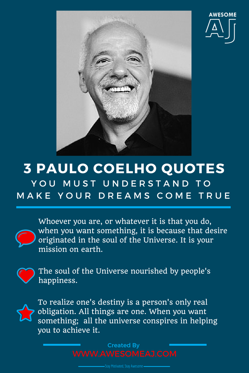 "an analysis of the things you need to pursue your dreams in alchemist by paulo coelho Paulo coelho's charming fable, now available in english for the first time, will enchant and inspire an even wider audience of readers for generations to come the following is an excerpt from the author's introduction to "" the alchemist "" by paulo coelho."