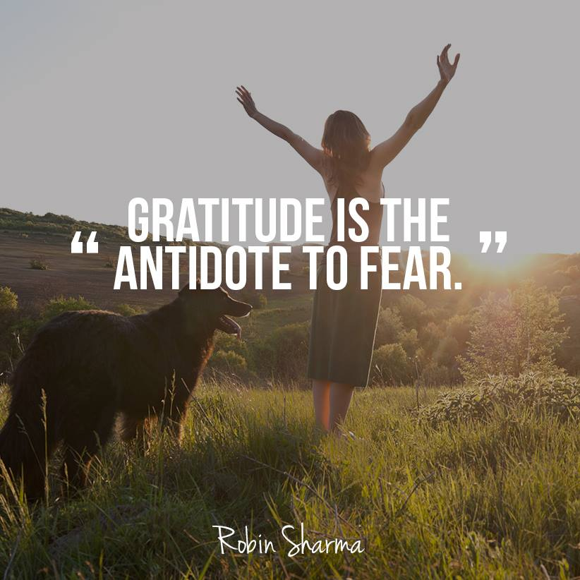 Robin Sharma Quotes Gratitude Fear