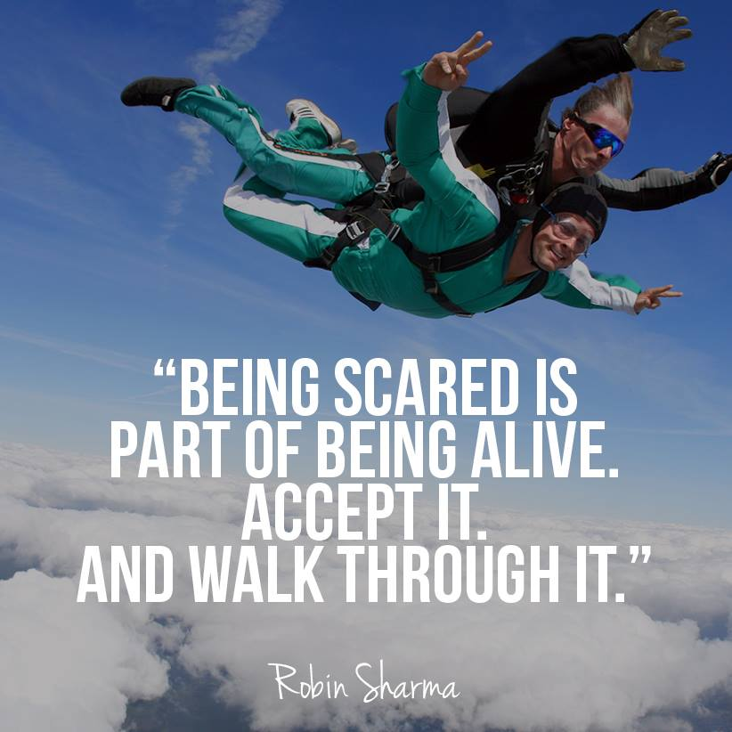 Robin Sharma Quotes being scared